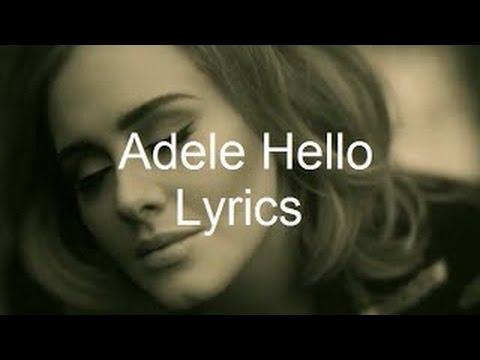 ADELE - HELLO (Lyrics) - YouTube - photo#15