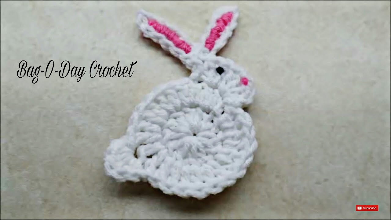 hight resolution of how to crochet easy bunny rabbit applique easter bag o day crochet tutorial 206