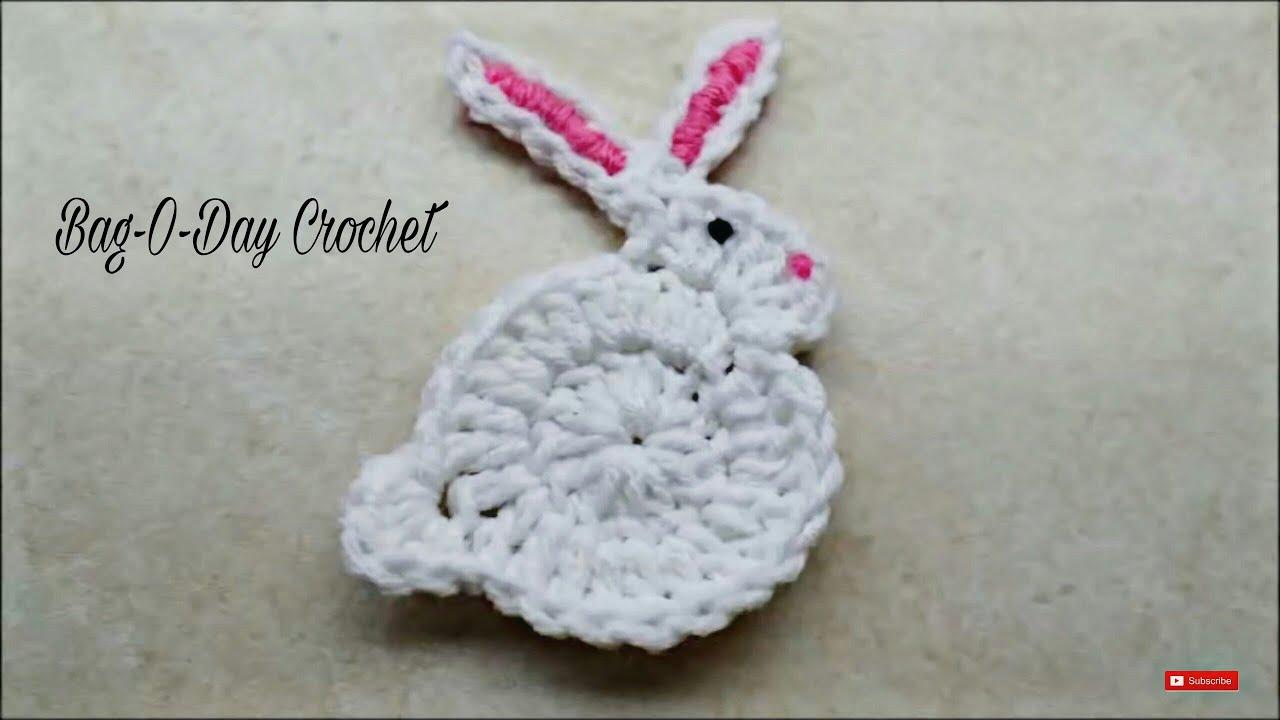 how to crochet easy bunny rabbit applique easter bag o day crochet tutorial 206 [ 1280 x 720 Pixel ]
