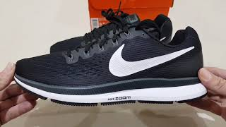 Unboxing NIKE AIR ZOOM PEGASUS 34 BLACK WORLD BEST ROAD RUNNING SHOES (100% ORIGINAL & RESMI) NO KW
