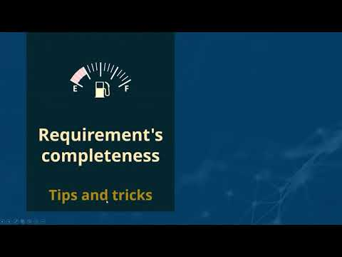 Completeness: tips and tricks for high-quality specifications