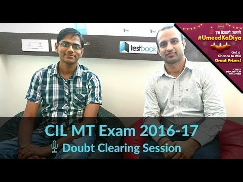 Testbook Doubt Clearing Session for CIL MT 2017