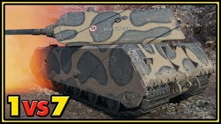 Maus - 1 vs 7 - Tier X Match - World of Tanks Gameplay
