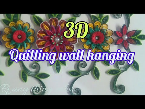 Quilling Wall Hanging/ Quilled 3D Flowers/ multicolor Quilling Flowers
