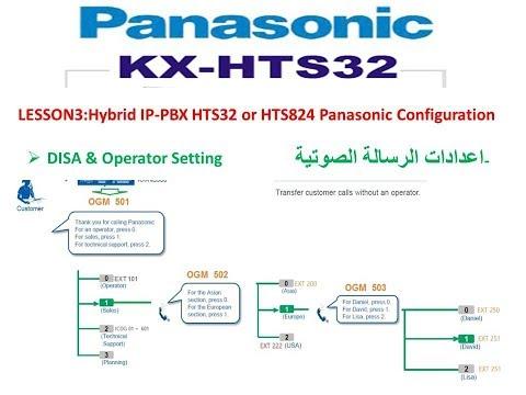 Lesson3:Hybrid IP-PBX HTS32 or HTS824 Panasonic Configuration(DISA & Operator Setting )