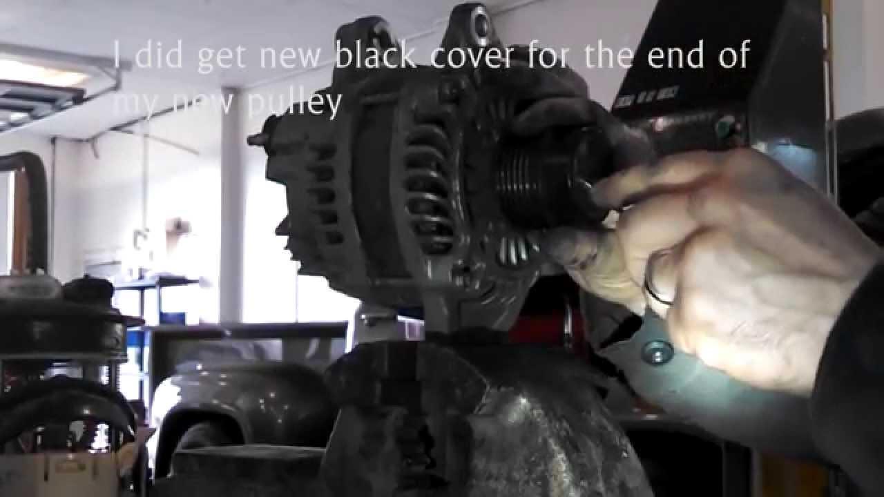 how to change alternator dodge caravan 2007