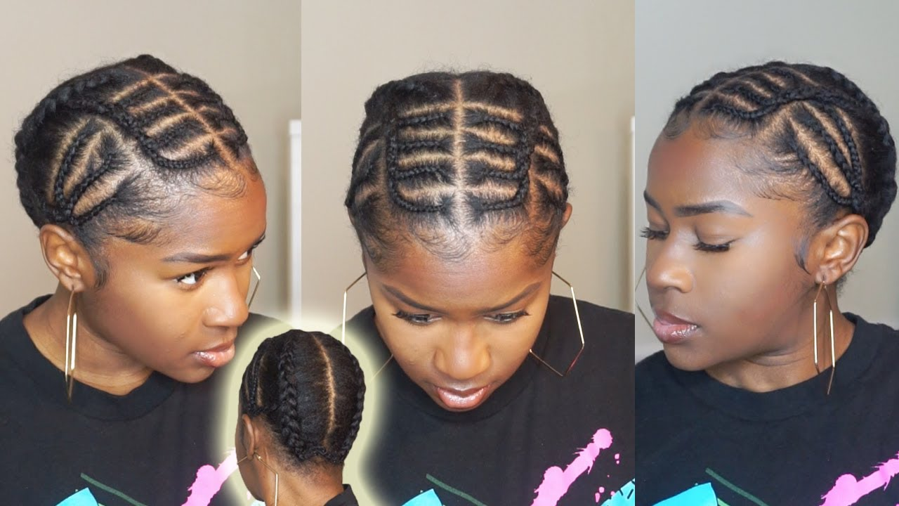 Easy Iverson Braids Protective Hairstyle On Short 4c Natural Hair