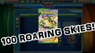 100 Pack Opening! Roaring Skies!!! Pokemon Trading Card Game Online(Finally! We'll get to open 100 Roaring Skies packs! Check out these EPIC PULLS!!!! Pokemon TCG Online is a free downloadable application available for PC, ..., 2015-05-09T04:05:32.000Z)