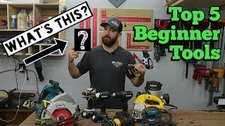 Top 5 beginner woodworking tools PLUS a secret tool!