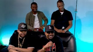Ice Cube & Straight Outta Compton Cast Talk Film, Police Brutality + Cube's Favorite NWA song!