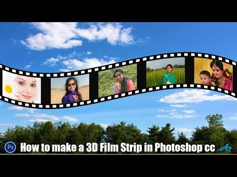 How To Create A Filmstrip In Photoshop|How To Make A 3D Film Strip In Photoshop|Film Strip|