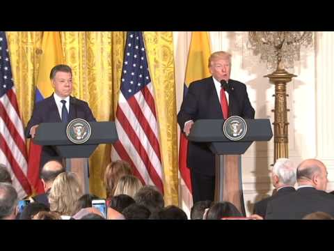 President Trump Welcomes Colombian President Juan Manuel Santos