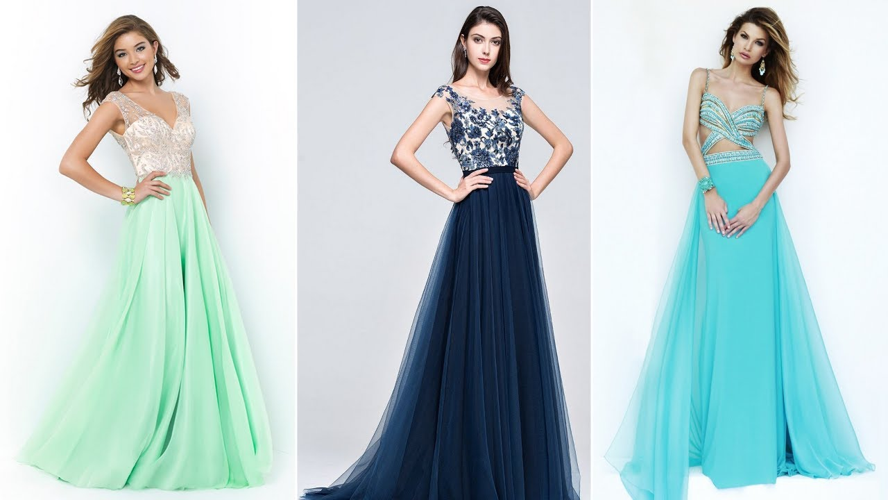Latest Prom Dresses and Gowns 2017 for Girls - YouTube