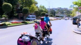 Öğretmen Çift 4 Yaşındaki Kızlarıyla 1500 Kilometre Pedal Çevirecek