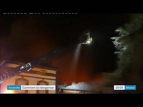 Un Incendie Ravage Un Immeuble à Sainte-Croix-aux-Mines, 18 Familles évacuées
