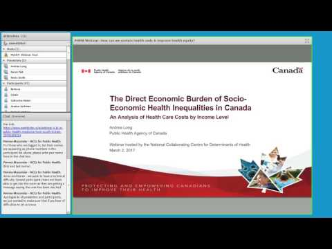 NCCDH Webinar: How can we contain health costs and improve health equity?