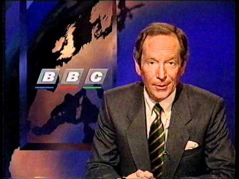 1995 BBC 1 continuity and newsflash (8th January)