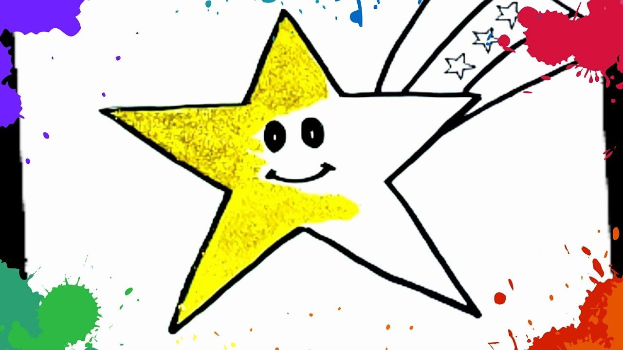 Yıldız Boyama Sayfaları Yıldız Nasıl çizilir çiz Boya Youtube