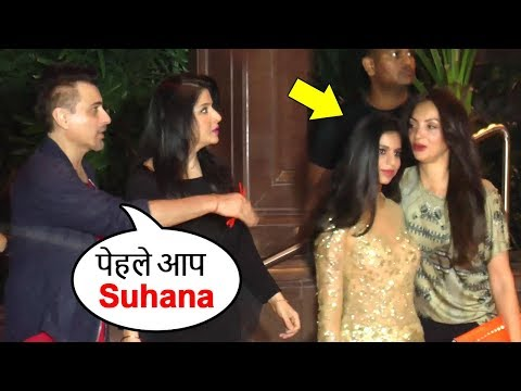 Sanjay Kapoor's Sweet Gesture Telling Shahrukh's Daughter Suhana To Pose For Media Before Him