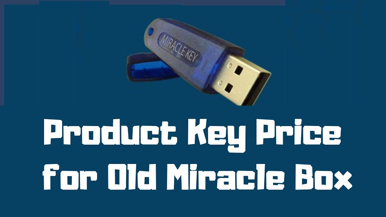 Product Key Price for Old Miracle Box by Master Memory TV