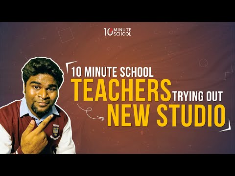 10 Minute School teachers trying out a NEW STUDIO