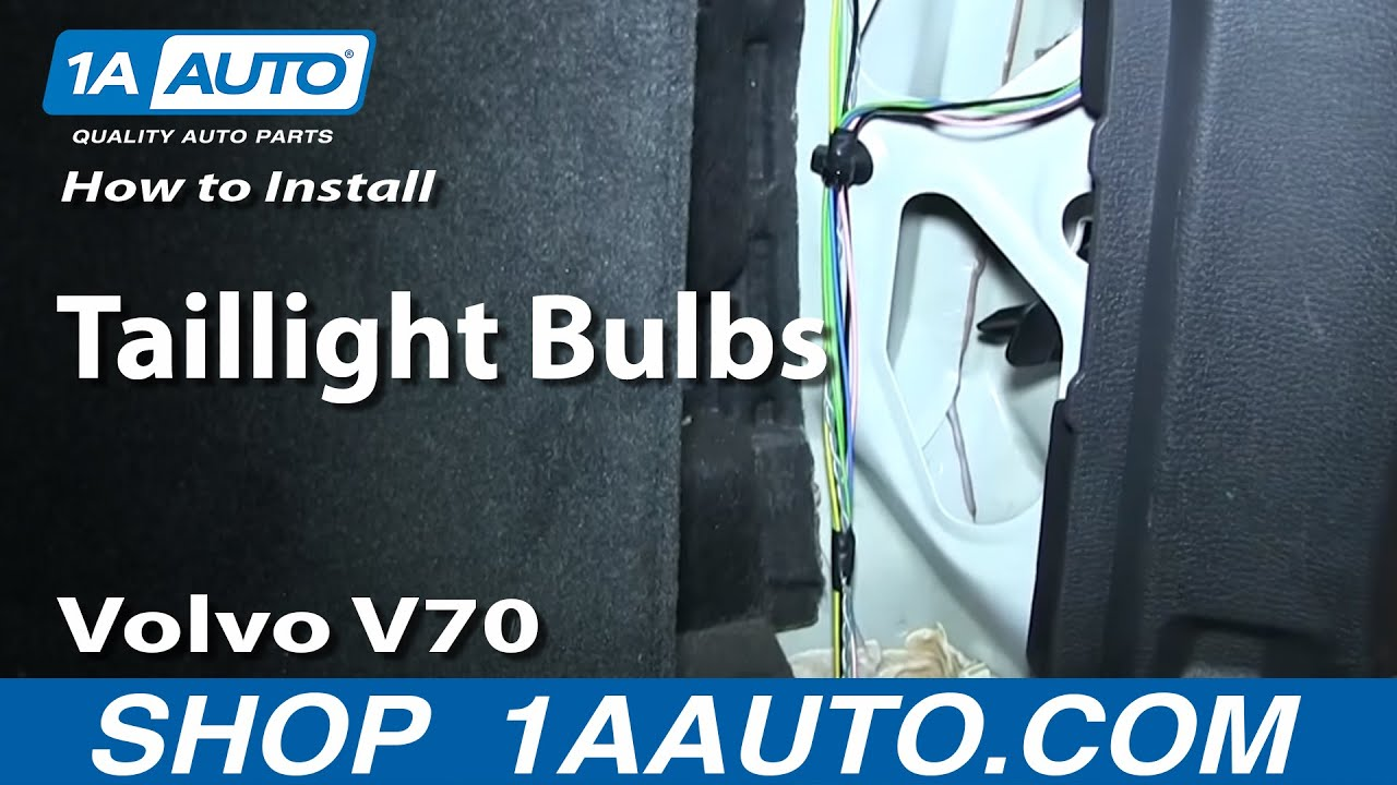 How to install replace taillight bulbs 2001 07 volvo v70 wagon youtube