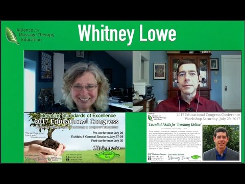 Whitney Lowe & Ruth Werner: 2017 Educational Congress Interviews