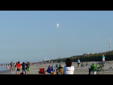 Space X Falcon 9 TESS rocket launch from CCAFS on 18 Apr 2018 (4K/UHD)