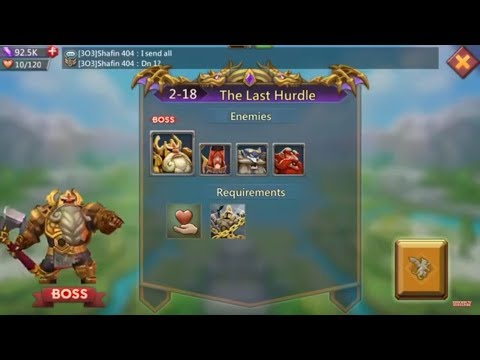 Lords Mobile Challenge 2-18