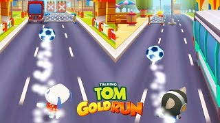 Talking Tom Gold Run Gameplay - Soccer Update | Android Games | Friction games