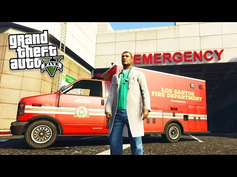 GTA 5 PC Mods - PLAY AS A PARAMEDIC MOD! GTA 5 Ambulance Missions Mod Gameplay (GTA 5 Mods Gameplay)