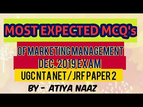MOST EXPECTED MCQ's Of MARKETING MANAGEMENT