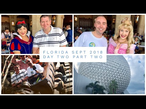 Walt Disney World & Florida Vlog - Sept 2018 - Day 2 - Pt 2 - Lunch in the Castle & Epcot