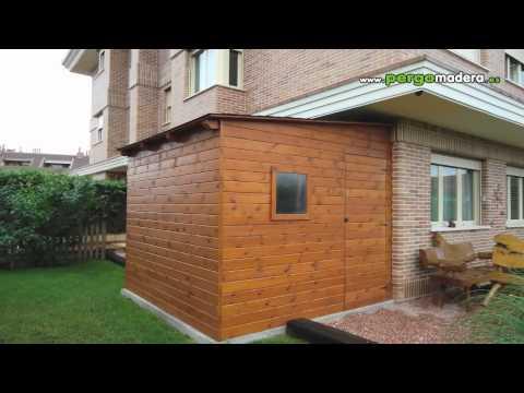 Casetas de madera pergomadera 2012 youtube for Casetas aluminio para terrazas