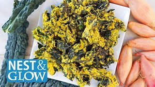 FAST Cheese and Onion Sunflower Kale Crisps Recipe