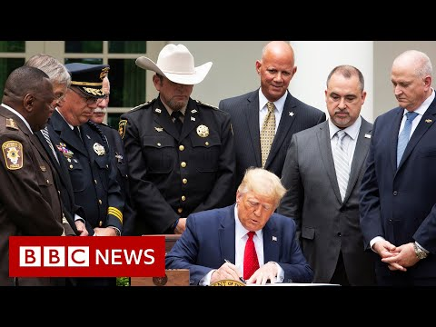 Trump signs executive order on police reform - BBC News