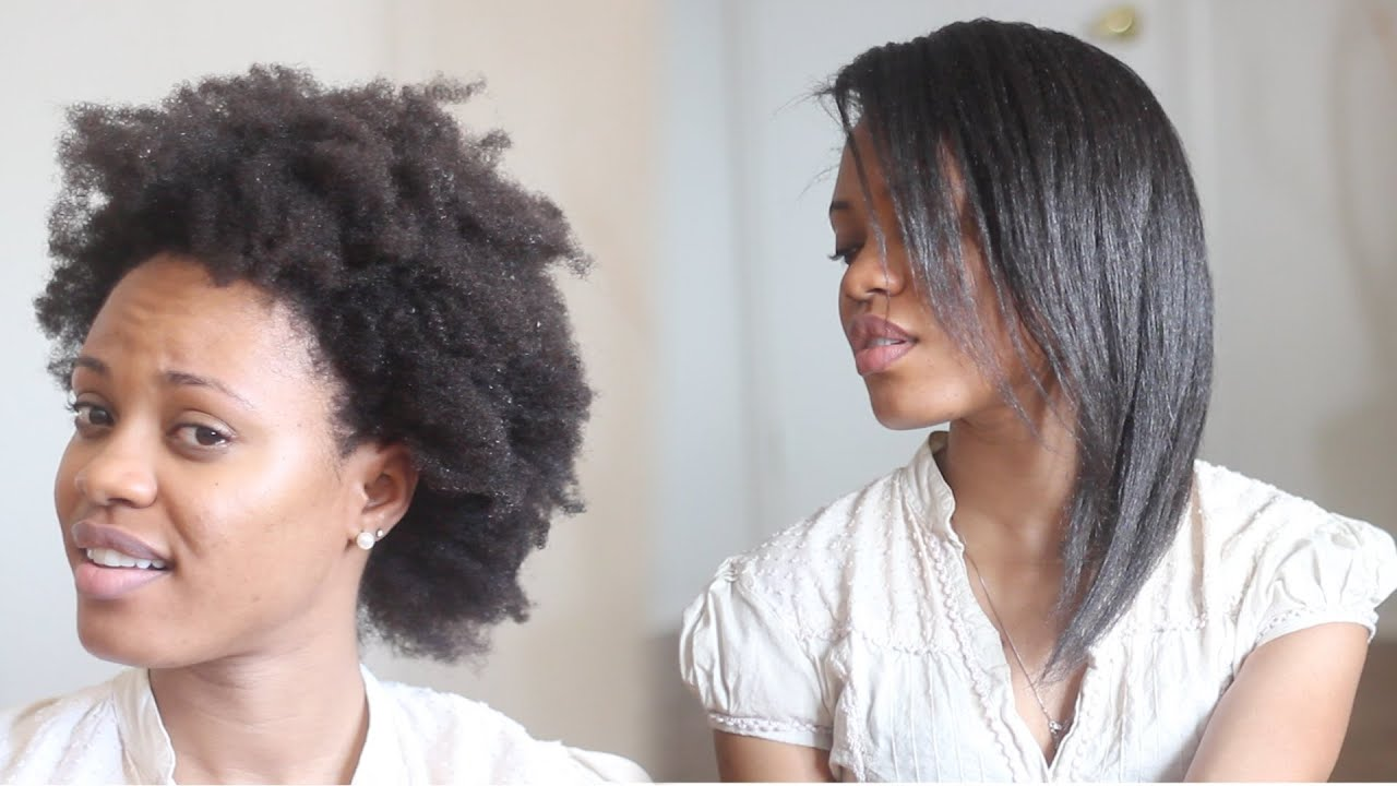 How To Straighten 4c Natural Hair Tutorial No Blow Dr