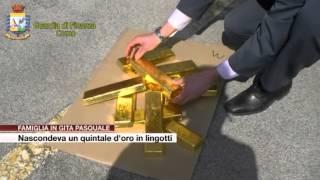Etg - Famiglia in gita nascondeva un quintale d'oro in lingotti