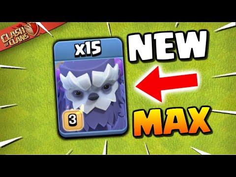 MAXED YETI GAMEPLAY! NEW TROOP in Clash of Clans! TH13 Winter Update Sneak Peek!