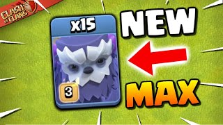 MAXED YETI GAMEPLAY! NEW TROOP in Clash of Clans! TH13 Winter Update Sneak Peek!