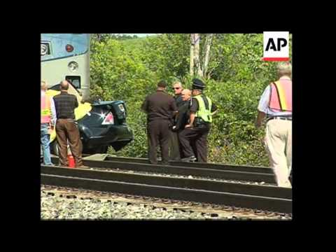 Thumbnail: Five killed in car hit by train at crossing