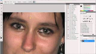 [Photoshop] How to reduce red eye, face smoothing [HD]