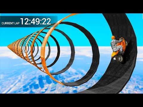 NEVER ENDING IMPOSSIBLE BIKE RACE! (GTA 5 Funny Moments)