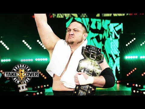 Samoa Joe's entrance: NXT TakeOver: Brooklyn II, only on WWE Network
