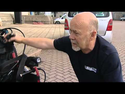 Wheelchair artist underwater