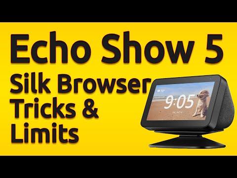 Amazon Echo Show 5 | Silk Browser Tricks & Limits