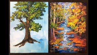 Video The Lazy Artist's Way to Paint Beautiful Trees in 10 minutes with Acrylic Paints for Beginners download MP3, 3GP, MP4, WEBM, AVI, FLV Maret 2018