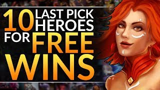 10 LAST PICK HEROES that INSTANTLY Win Games - Best Mid Drafting Tips - Dota 2 Pro Draft Guide