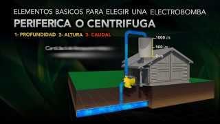 electro bombas perifericas centrifugas conecciones - video practico.