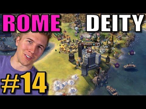 Civilization 6: Rome [Deity TSL Earth Map w/16 civs] Part 14 - Civ 6 Gameplay / Let's Play